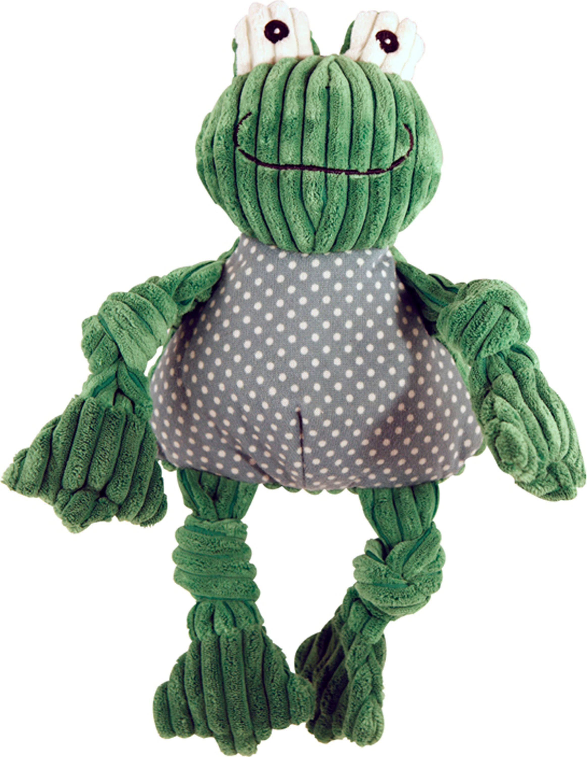 Huggle Hounds Plush Corduroy Durable Knotties Frog Knottie Dog Toy