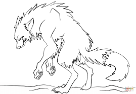 Scary Halloween Coloring Pages Online by Werewolf Coloring Pages Halloween Coloring Pages Werewolf