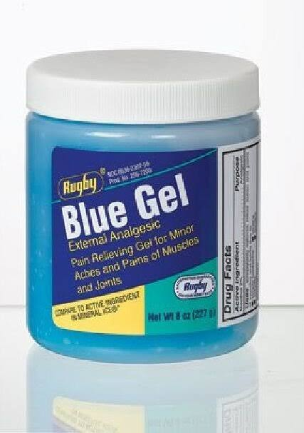 Rugby Blue Gel Pain Rub - 8oz Tub