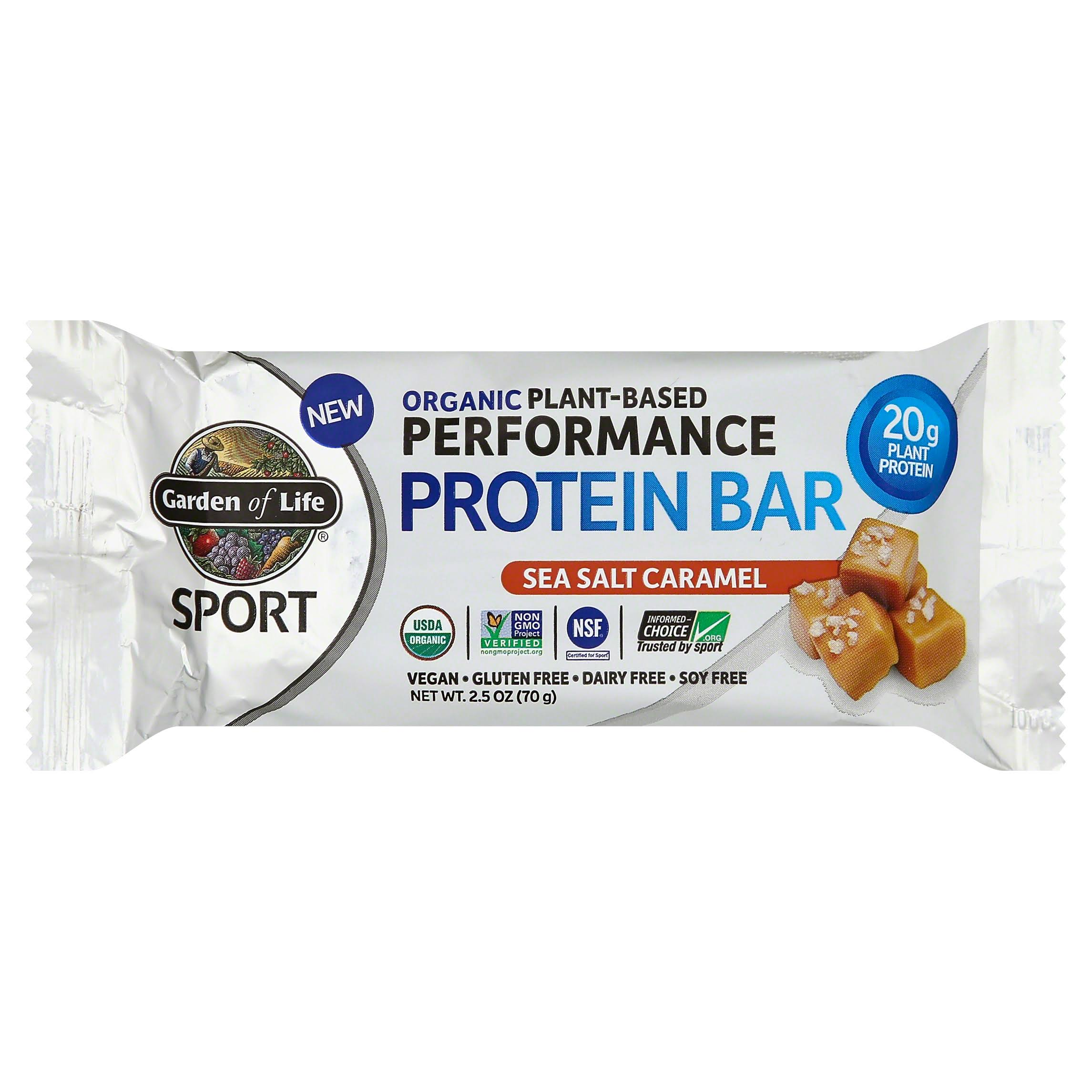 Garden of Life Sport Protein Bar, Performance, Organic Plant-Based, Sea Salt Caramel - 2.5 oz