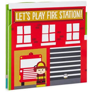 Hallmark Let's Play Fire Station Book