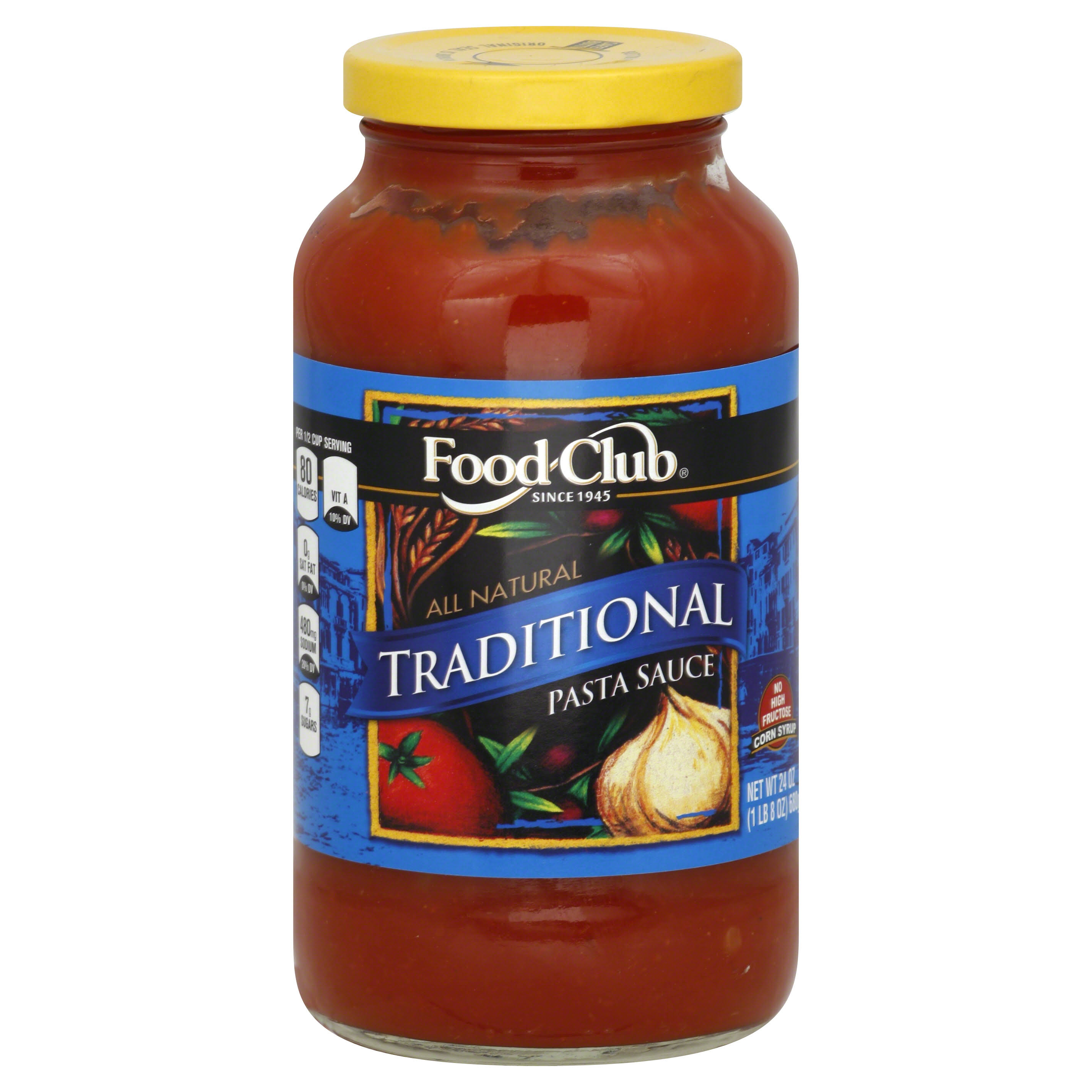 Food Club Pasta Sauce, Traditional - 24 oz