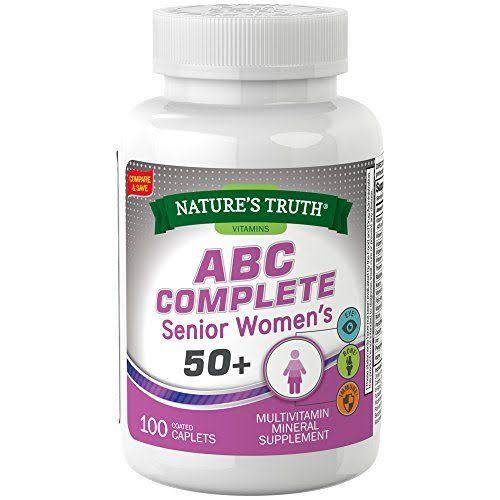 Nature's Truth Abc Complete Senior Women's 50+ Multivitamin - 100 Caplets
