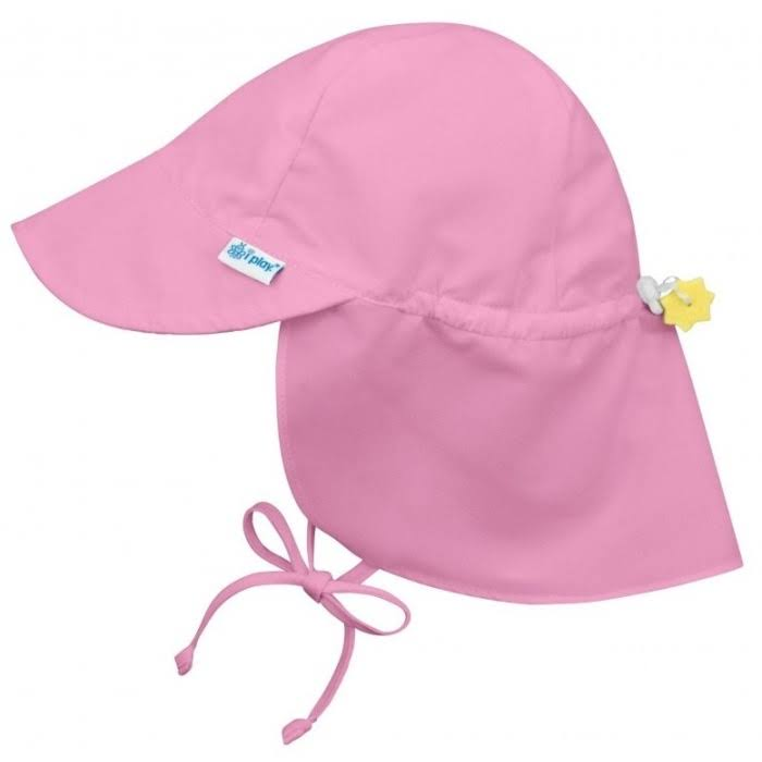 I Play Babies Flap Sun Protection Hat - Light Pink