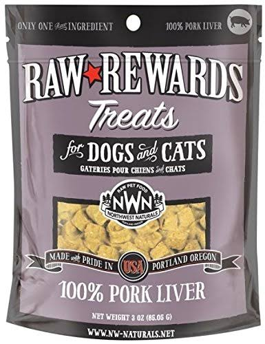 Northwest Naturals Raw Rewards Freeze Dried Liver Treats - Pork