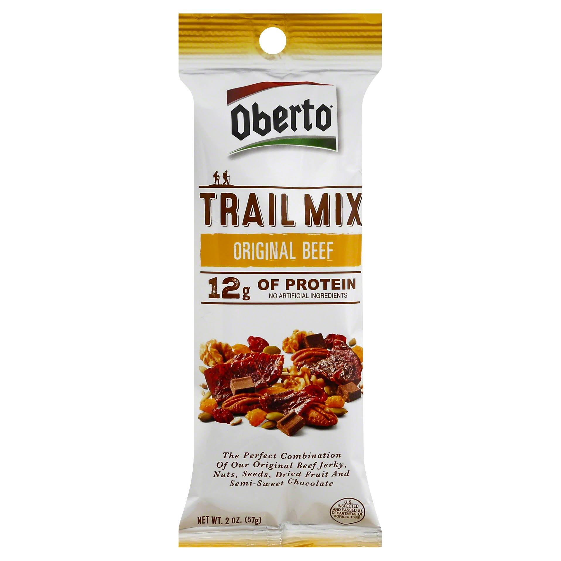 Oberto Trail Mix, Original Beef - 2 oz