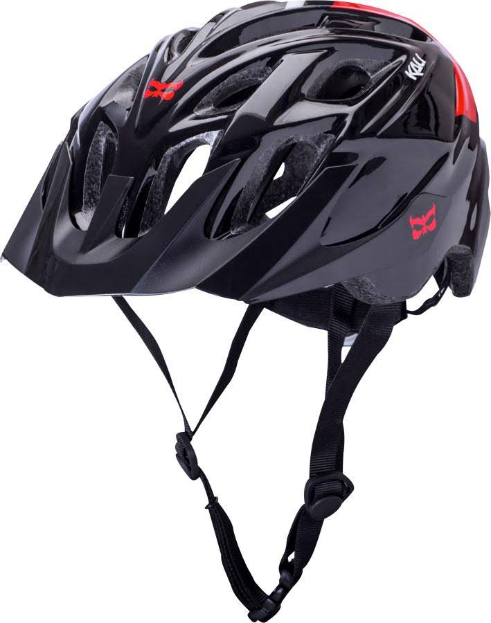 Kali Protectives Chakra Solo Helmet - Neo Black and Red, Large