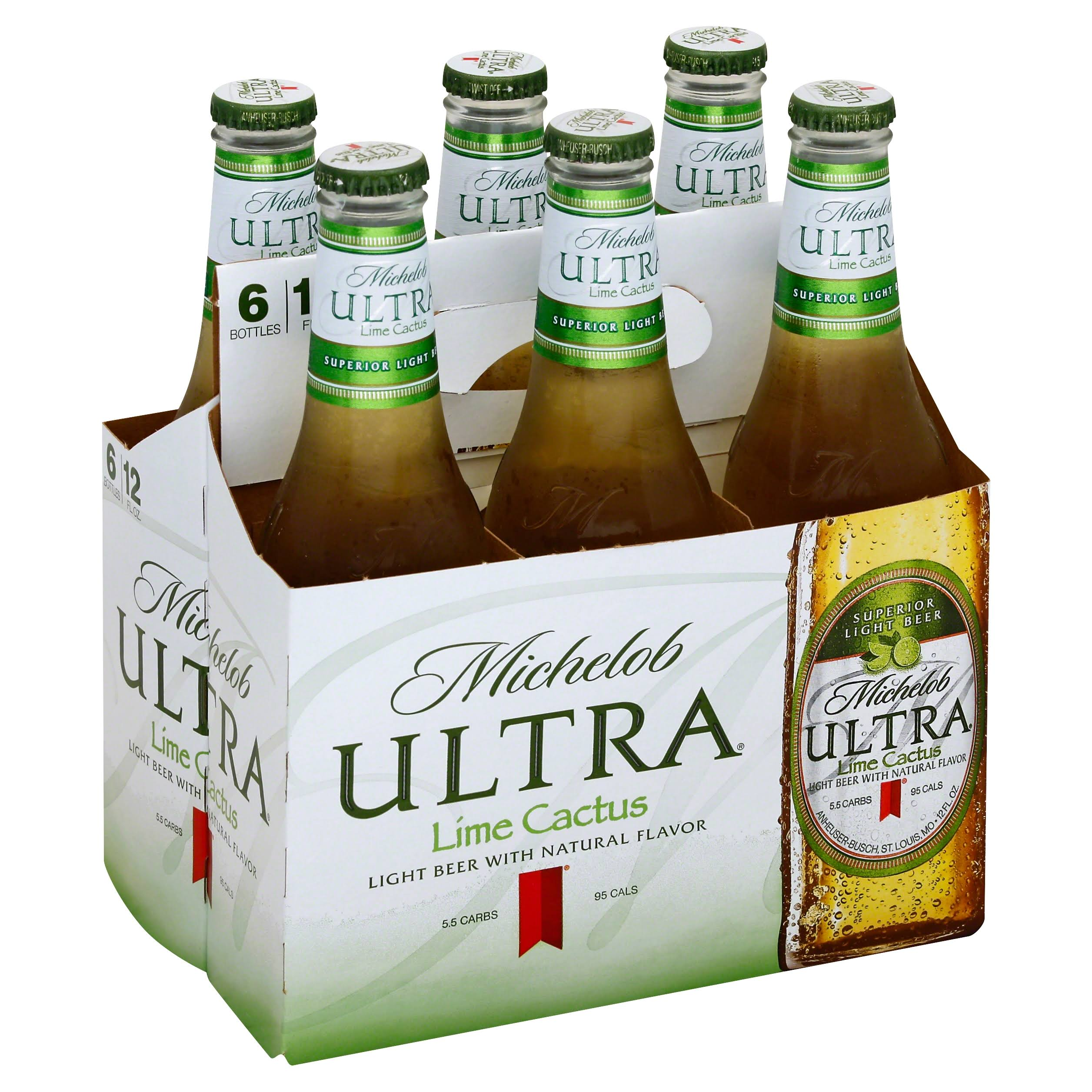 Michelob Ultra Beer, Light, Lime Cactus - 6 pack, 12 fl oz bottles