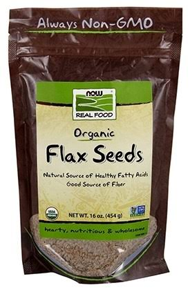 Now Foods Organic Flax Seeds - 16 oz