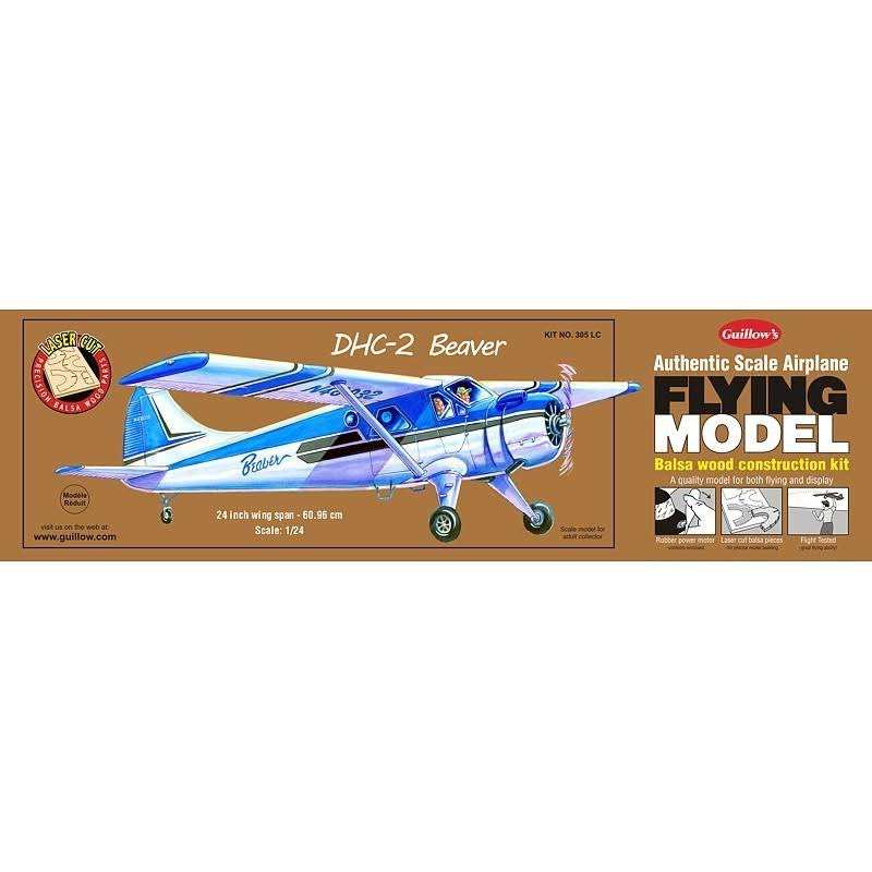 Guillows DHC-2 Beaver Balsa Wood Contruction Kit