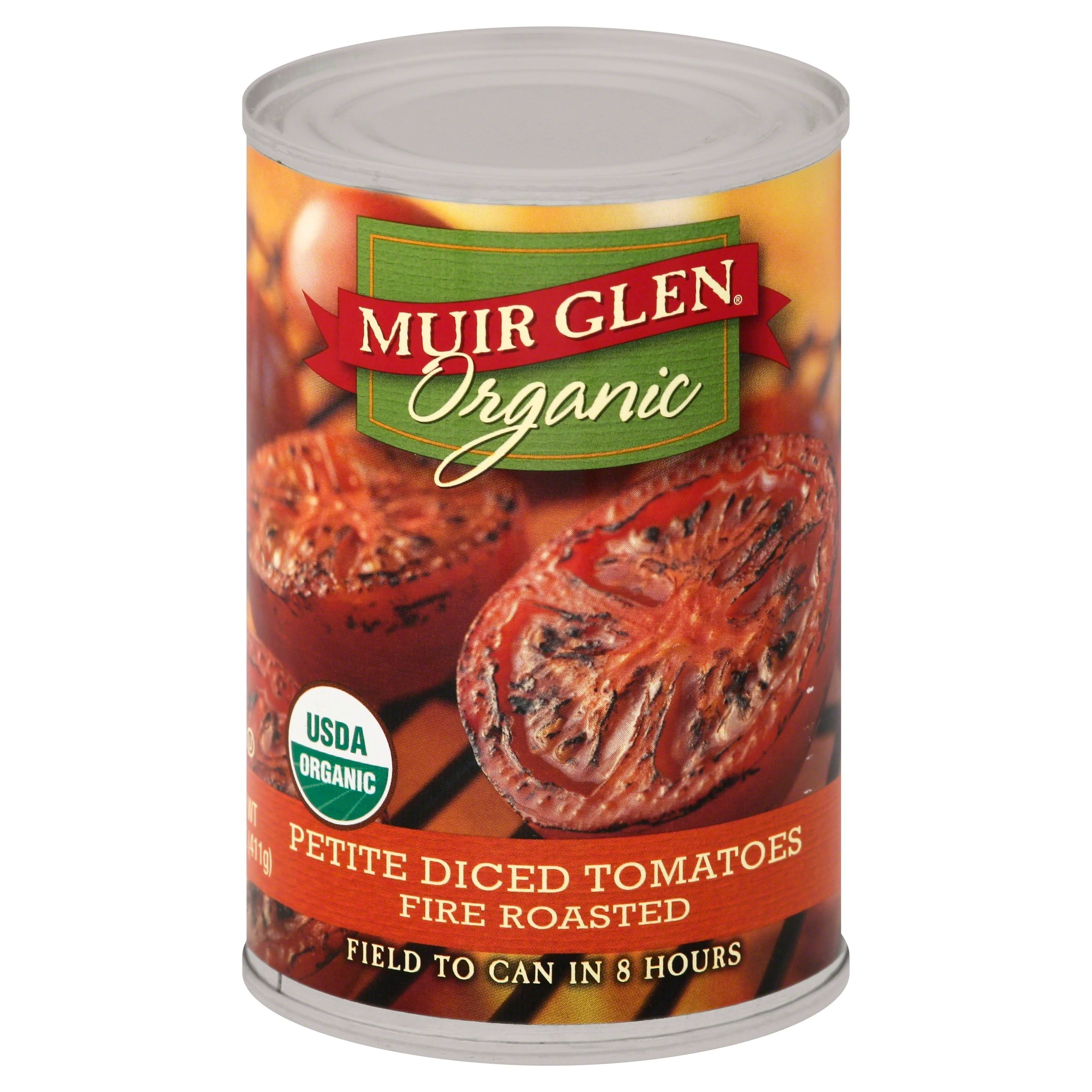 Muir Glen Organic Petite Diced Tomatoes - Fire Roasted,12 x 14.5oz