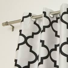 Moroccan Tile Curtain Panels by Image Gallery Moroccan Tile Outline