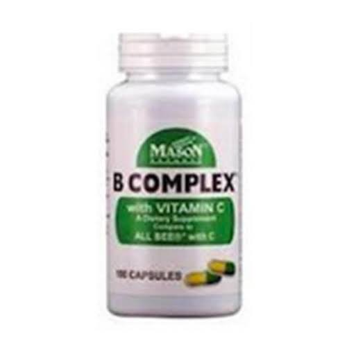 Mason Natural B Complex With Vitamin C Supplement - 100ct