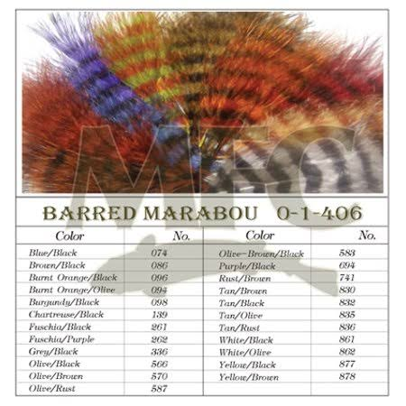 Montana Fly Company Barred Marabou Blood Quill - Purple/Black (1/8 oz)