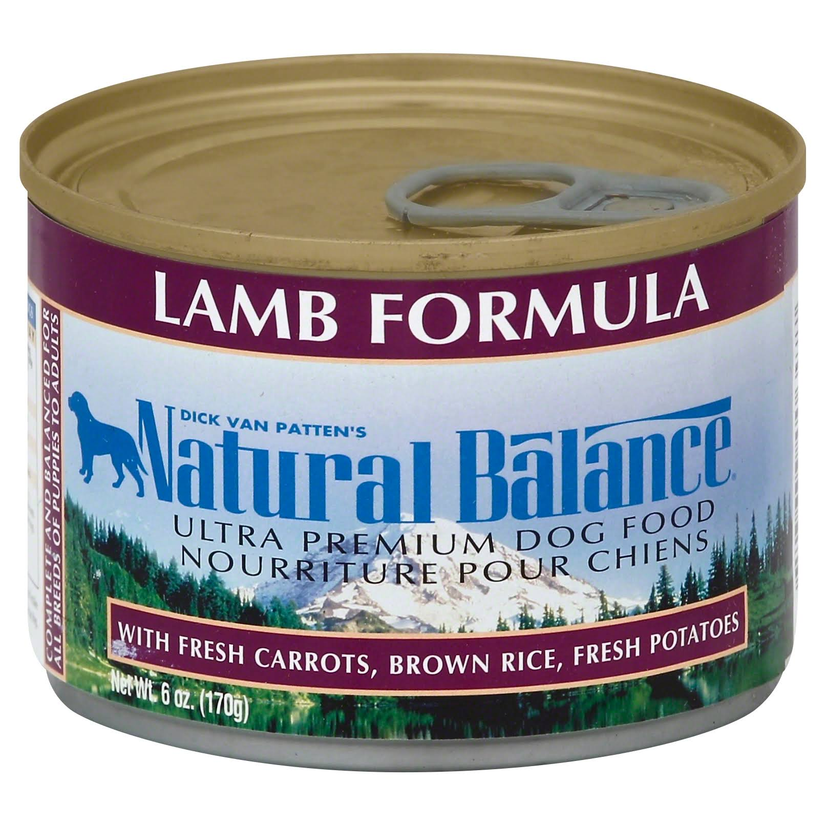 Dick Van Patten's Natural Balance Natural Balance Ultra Premium Canned Dog Food - Lamb Formula, 6oz