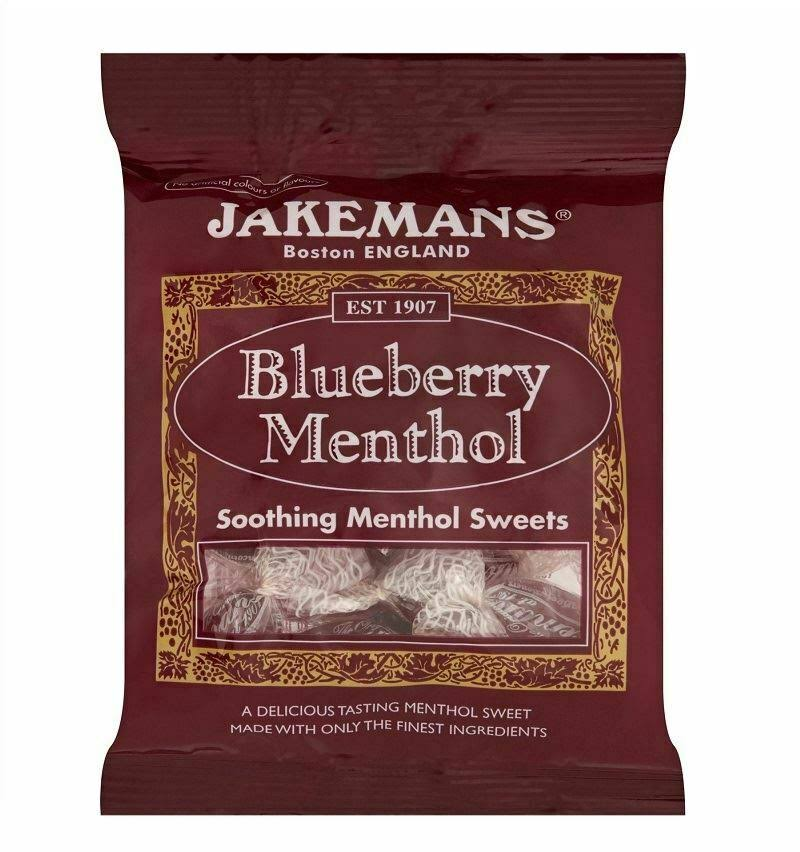 Jakemans Soothing Menthol Sweets - Blueberry Menthol, 100g