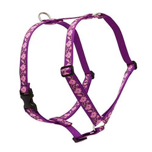 LupinePet Originals 1 Rose Garden 20-32 Roman Harness for Medium Dogs, White