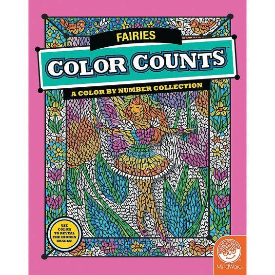 Color Counts A Color By Number Collection - Fairies
