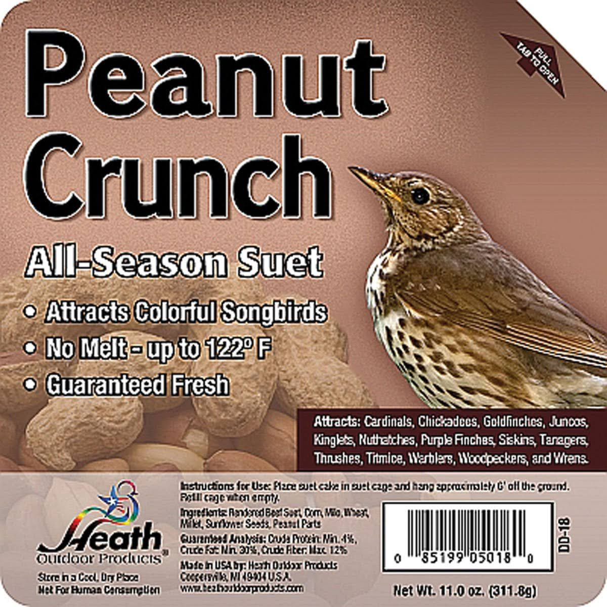 Heath Outdoor Products Peanut Crunch Suet Cake Bird Treat - 12pk