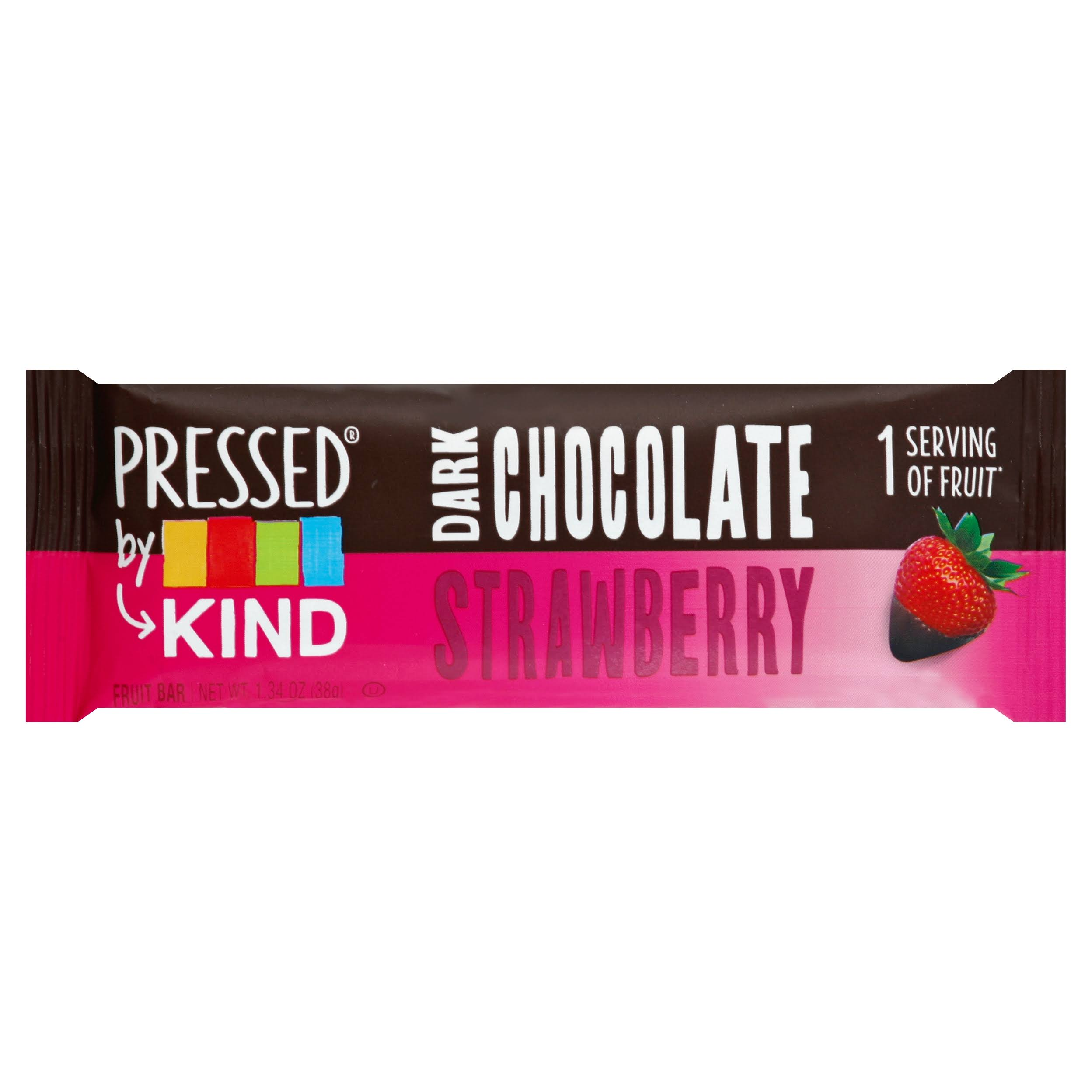 Kind Pressed Fruit Bar, Dark Chocolate, Strawberry - 1.34 oz