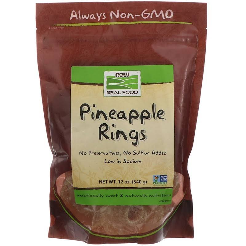 Now Real Food Pineapple Rings - 140g