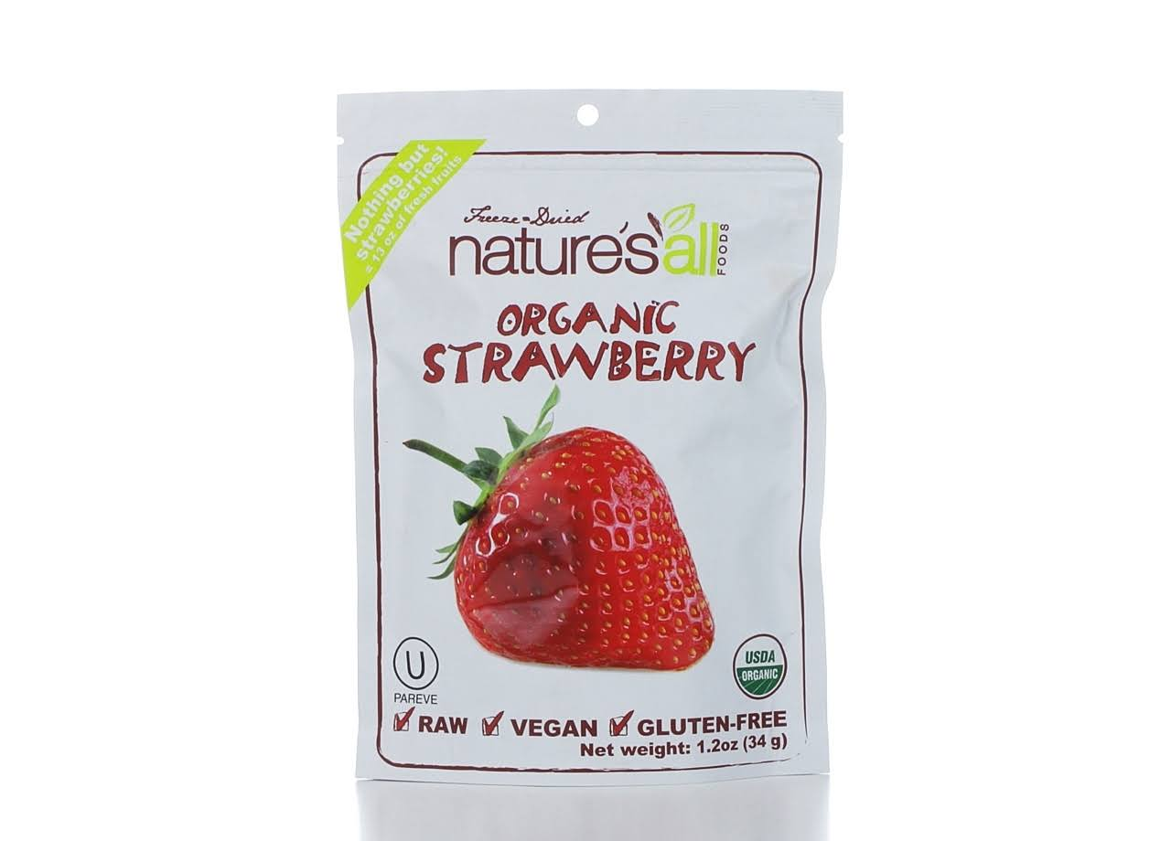 Nature's All Organic Freeze Dried Strawberries