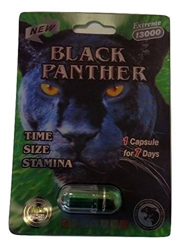 All New Black Panther Extreme 13000 Male Enhancement Pill for Men (5 Pack)