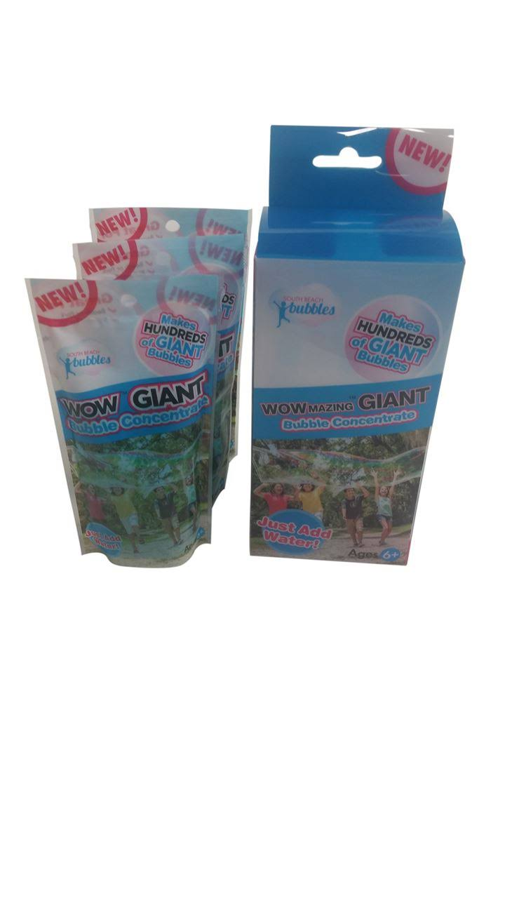 Wowmazing Giant Bubble Concentrate Solution - Making Big Bubbles (3 Pouches of Bubble Refill) - Just Add Water