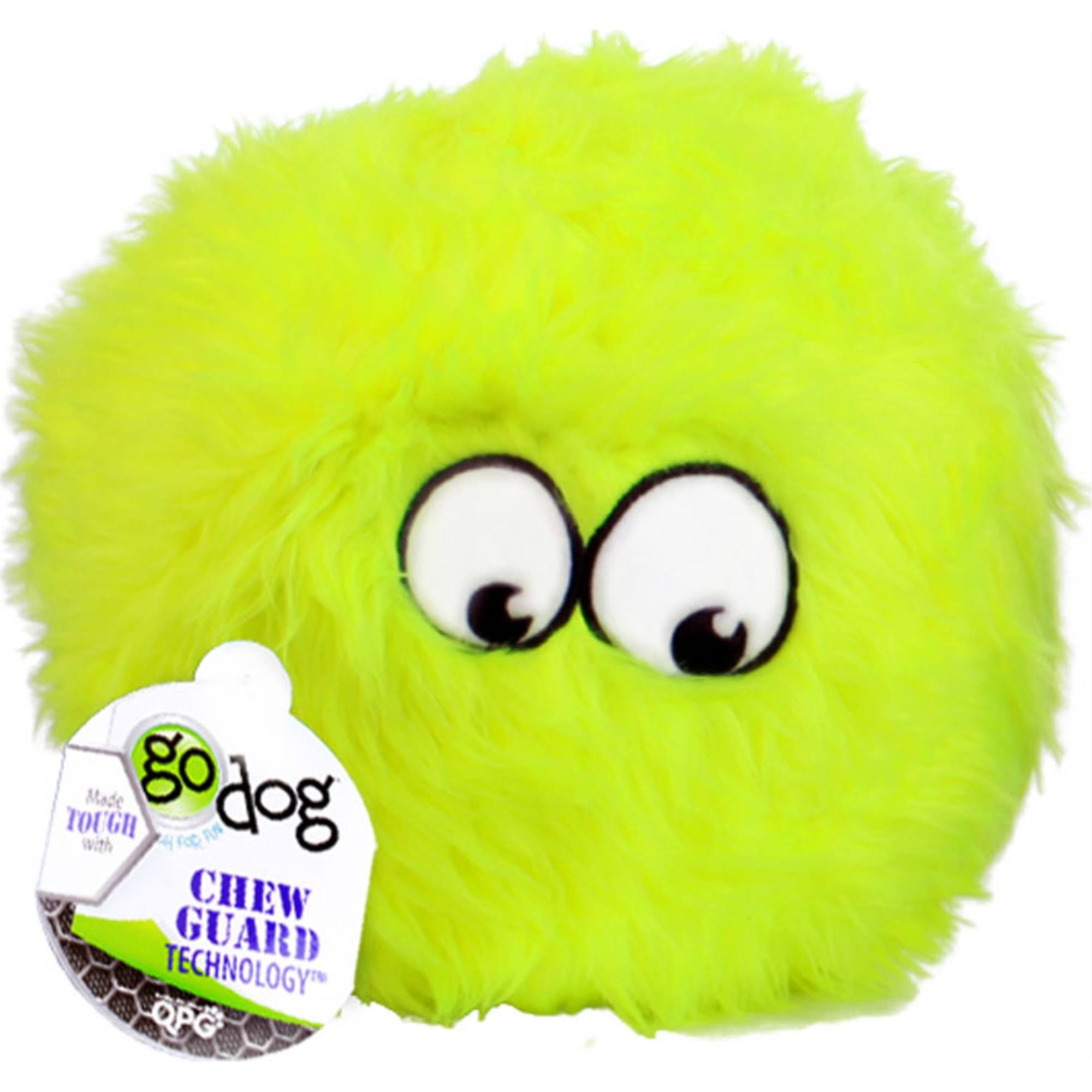 Godog Furballz Dog Toy - Lime, Small