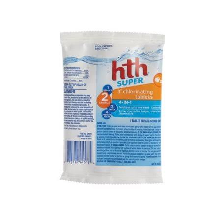 HTH Dual Action Chlorinating Tablets - 6oz, 3""