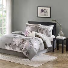 Lavender And Grey Bedding by Madison Classics Jasmine 7 Piece Comforter Set