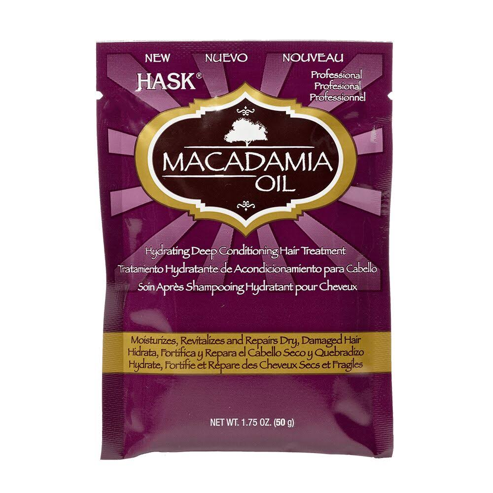 Hask Macadamia Oil Hair Treatment, Hydrating Deep Conditioning - 1.75 oz