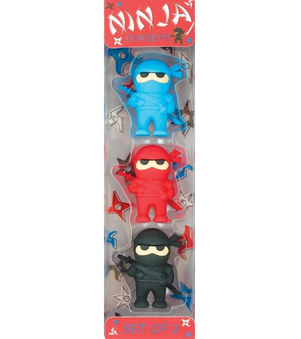 Ninja Puzzle Erasers - Set of 3