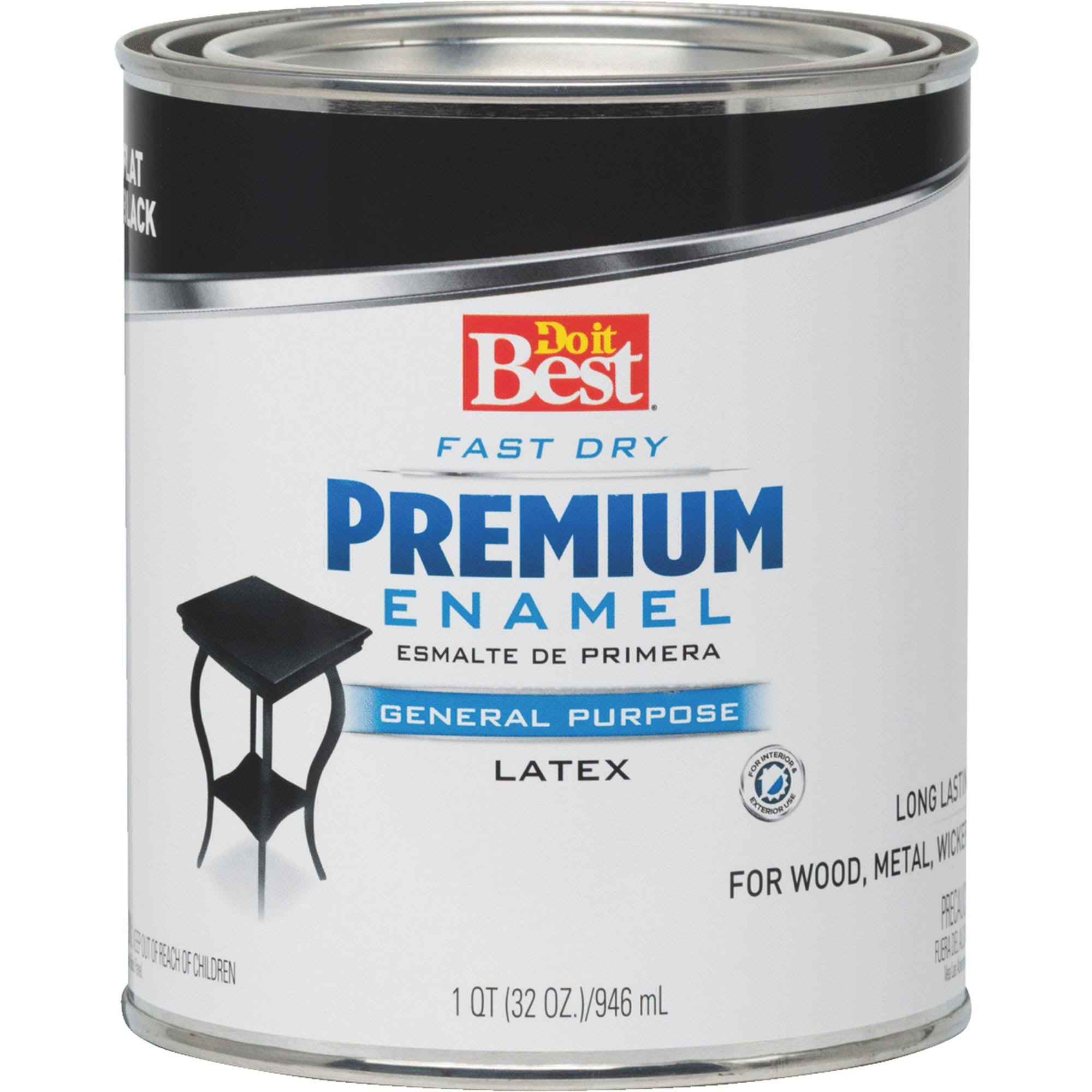 Do It Best Premium Acrylic Latex Enamel Paint - Black