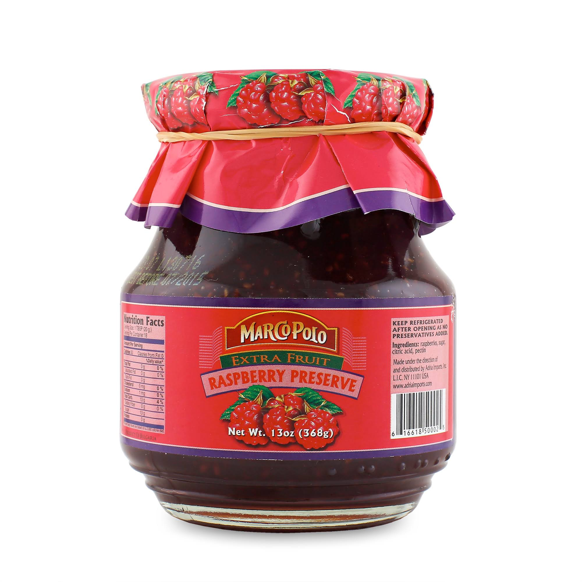 Marco Polo Extra Fruit Raspberry Preserve - 13oz