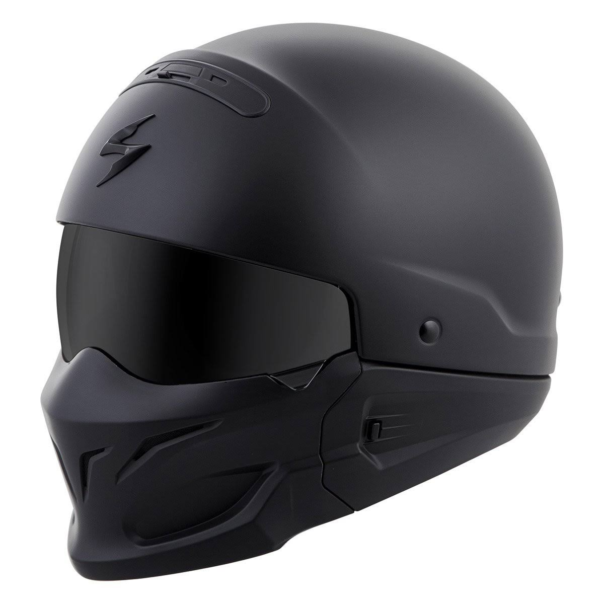 Scorpion Convertible Motorcycle Helmets - Solid Matte Flat Black, Medium