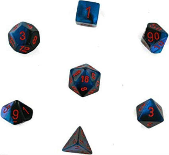 Chessex Gemini Polyhedral Starlight Die Set - Red & Black