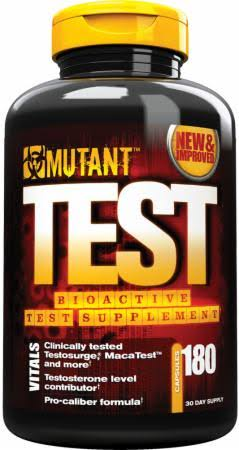 Mutant Bioactive Test Supplement - Clinically Proven to Boost Test, 180 Capsules