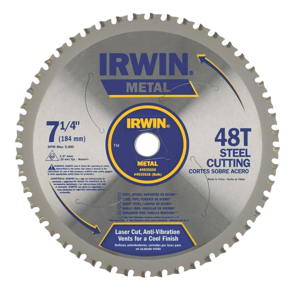Irwin Tools 4935555 Metal Cutting Circular Saw Blade - 7 1/4""