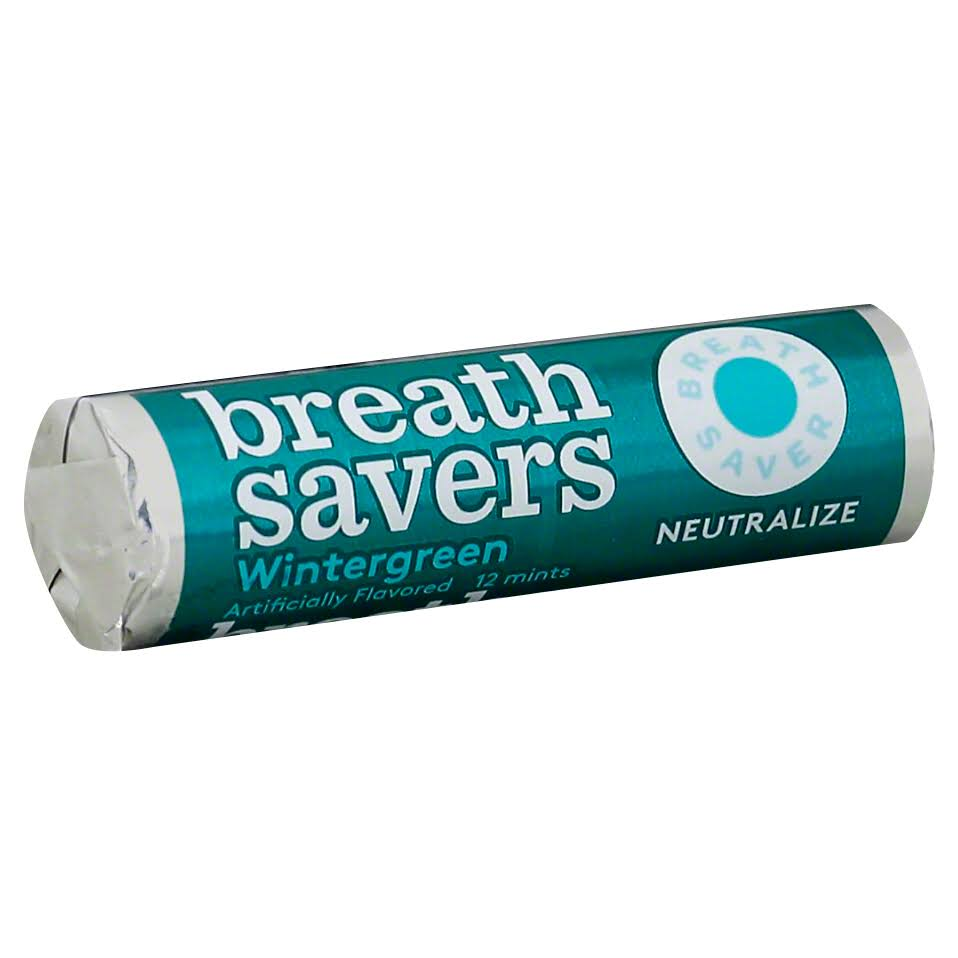 Breath Savers Mints - Wintergreen, 0.75oz Rolls