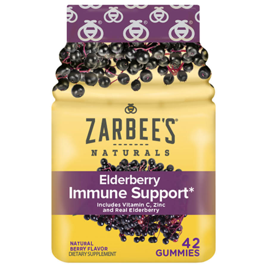 Zarbee's Adult Elderberry Immune Support Dietary Supplement - Natural Berry, 60ct