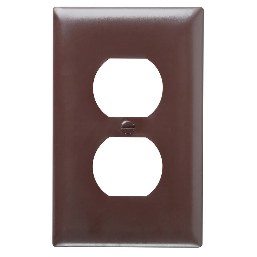 Pass & Seymour Duplex Outlet Opening Wall Plate - Brown