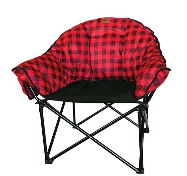 Kuma Lazy Bear Camp Chair - Red/Black - Red/Black by Sportsman's Warehouse