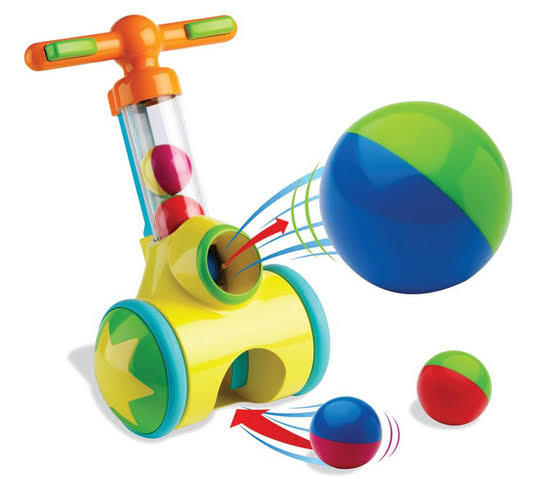 Tomy Toomies Pic and Pop with Ball Launcher and Collector Walker Toy