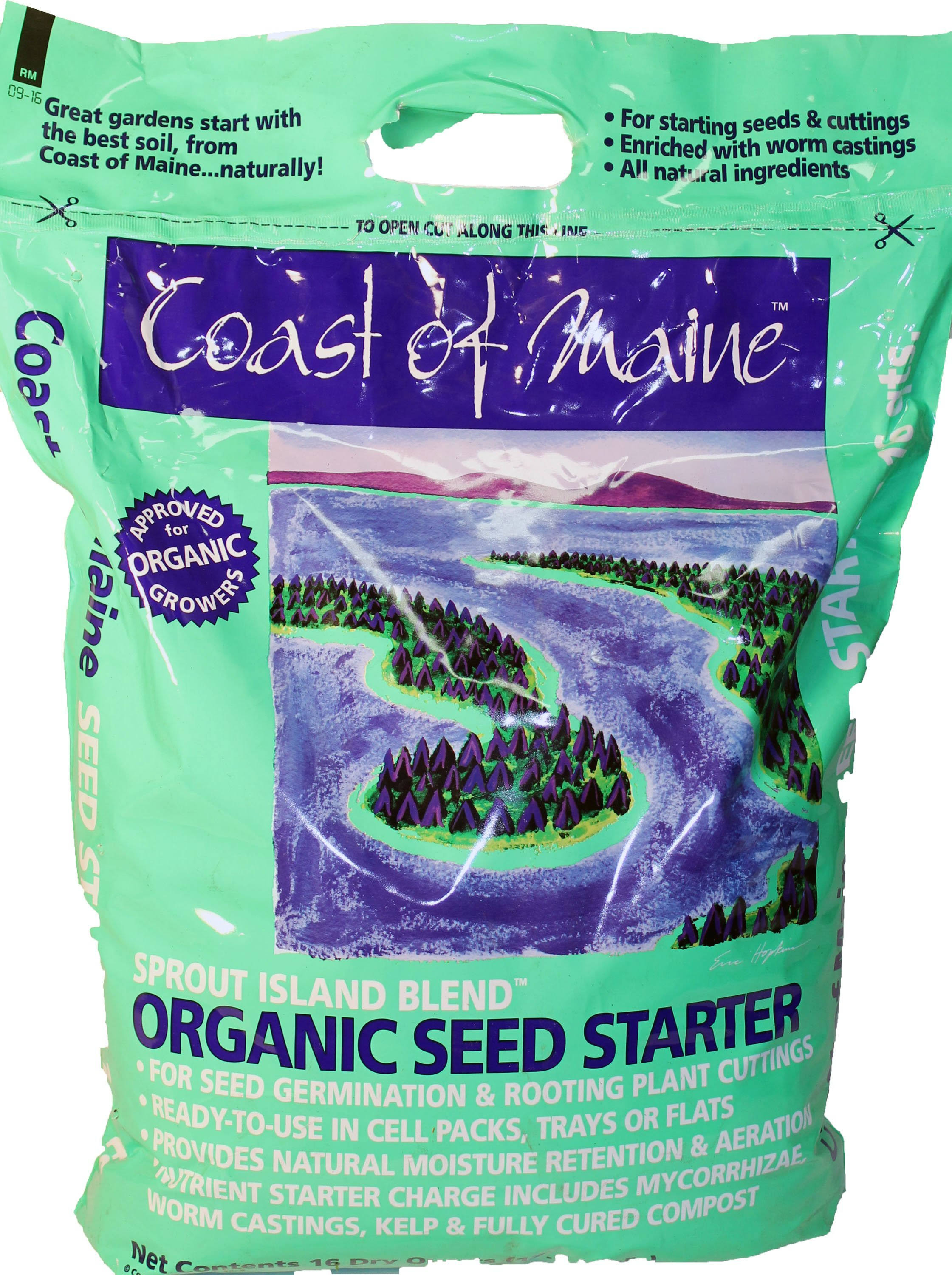 Coast of Maine Organic Seed Starter - Sprout Island Blend, 15.5lbs
