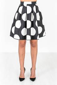 black skirt with white polka dot my fashion hit online shop
