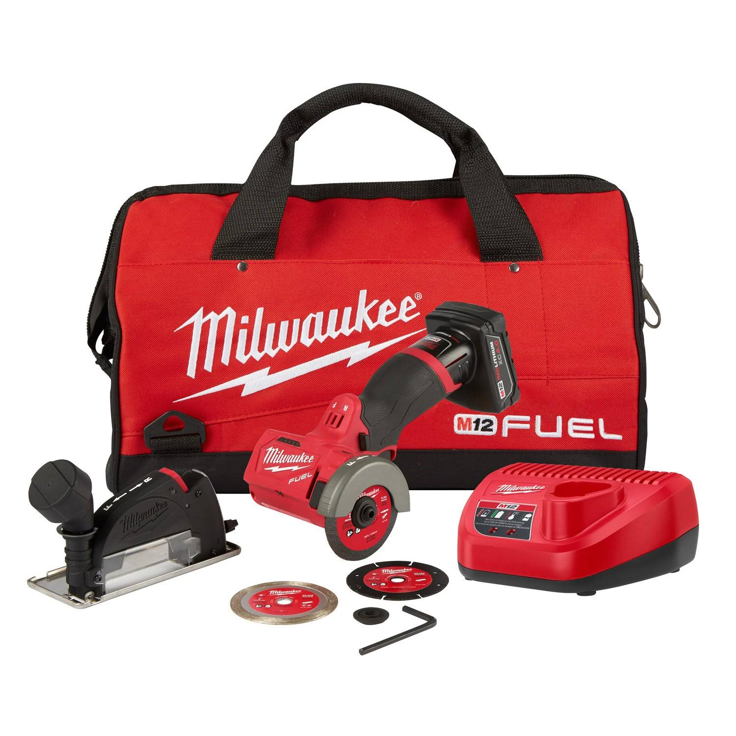 Milwaukee 252221XC M12 FUEL Lithium Ion Brushless Cordless Cut Off Tool Kit - 12V
