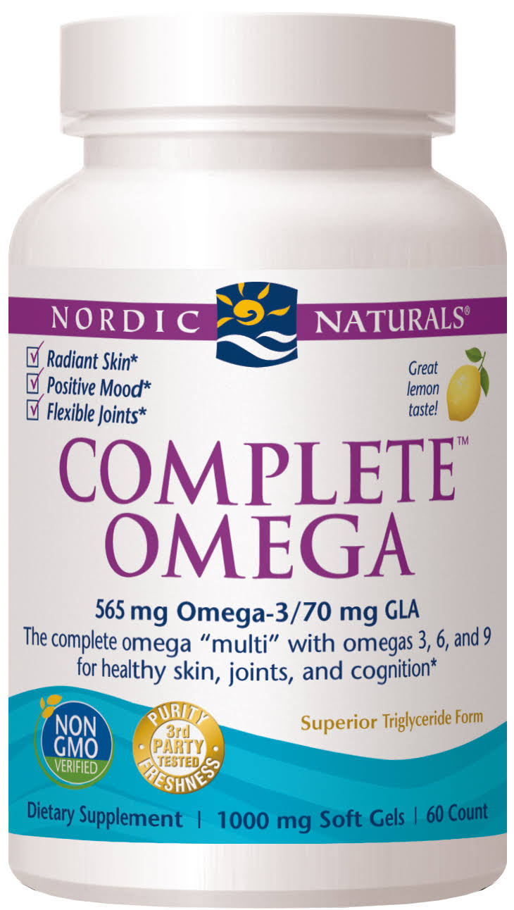 Nordic Naturals Complete Omega Dietary Supplement, Softgels - 60 count