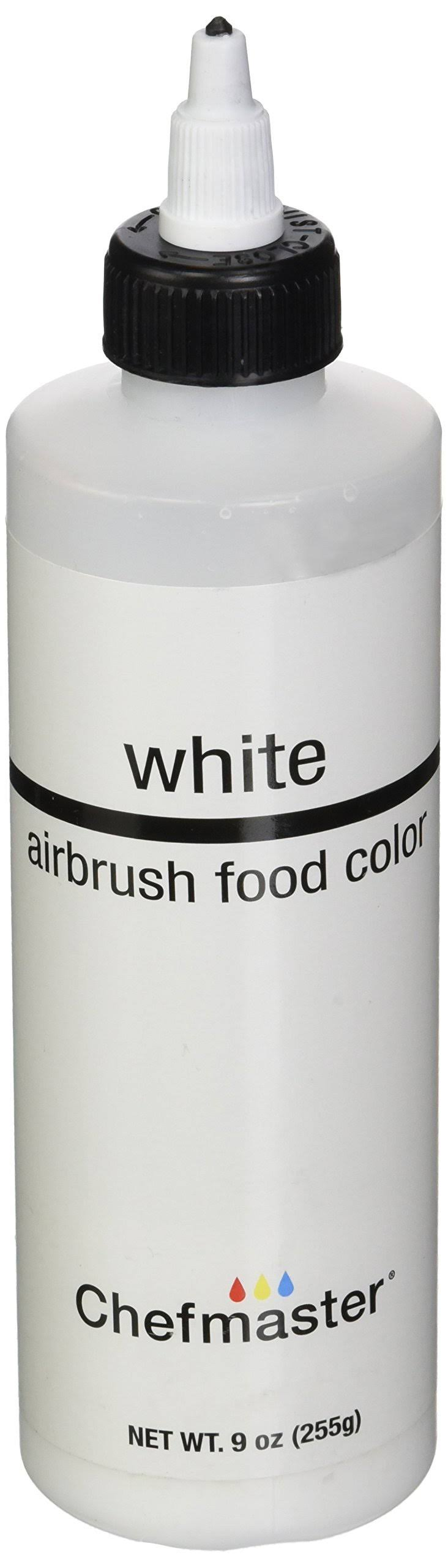 Chefmaster Airbrush Spray Food Color - White, 9oz