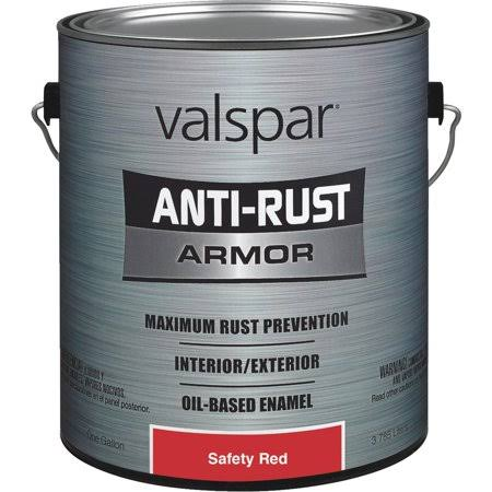 Valspar Anti-Rust Armor Safety Color Rust Control Enamel - Bright Red, 1 gal